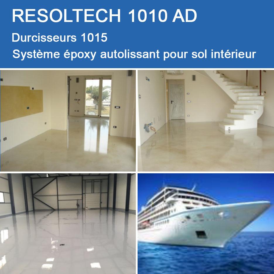 Resine Epoxy Sol Interieur resolcoat 1010 ad. dédié à la réalisation de sol en époxy