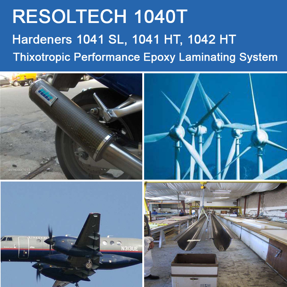 Applications of 1040T for Filament Winding, Injection Moulding / RTM and Wet layup