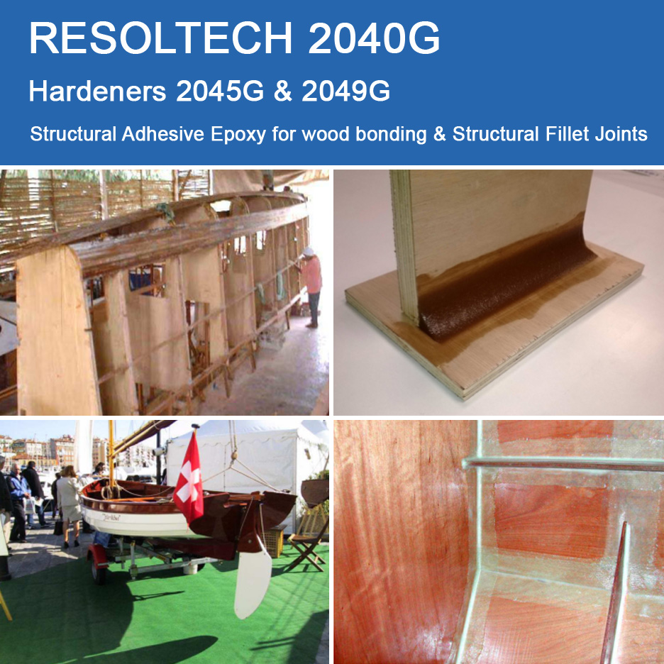 Applications of 2040 G for Filling & Fairing and Adhesives