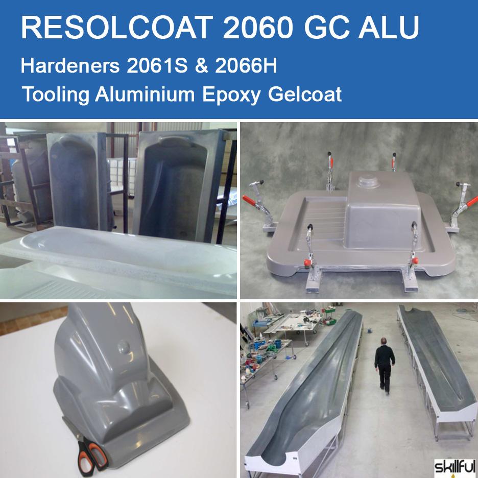 Resolcoat 2060 GC ALU  Tooling Aluminium Epoxy Gelcoat