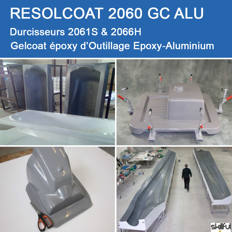 Applications de 2060 GC ALU pour Gelcoats et Topcoats