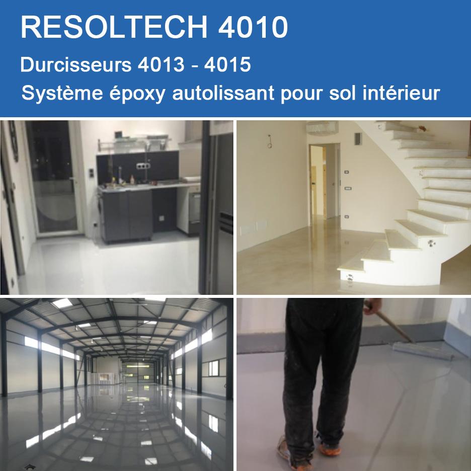 Resine Epoxy Sol Interieur resoltech 4010. système époxy autolissant pour sol intérieur