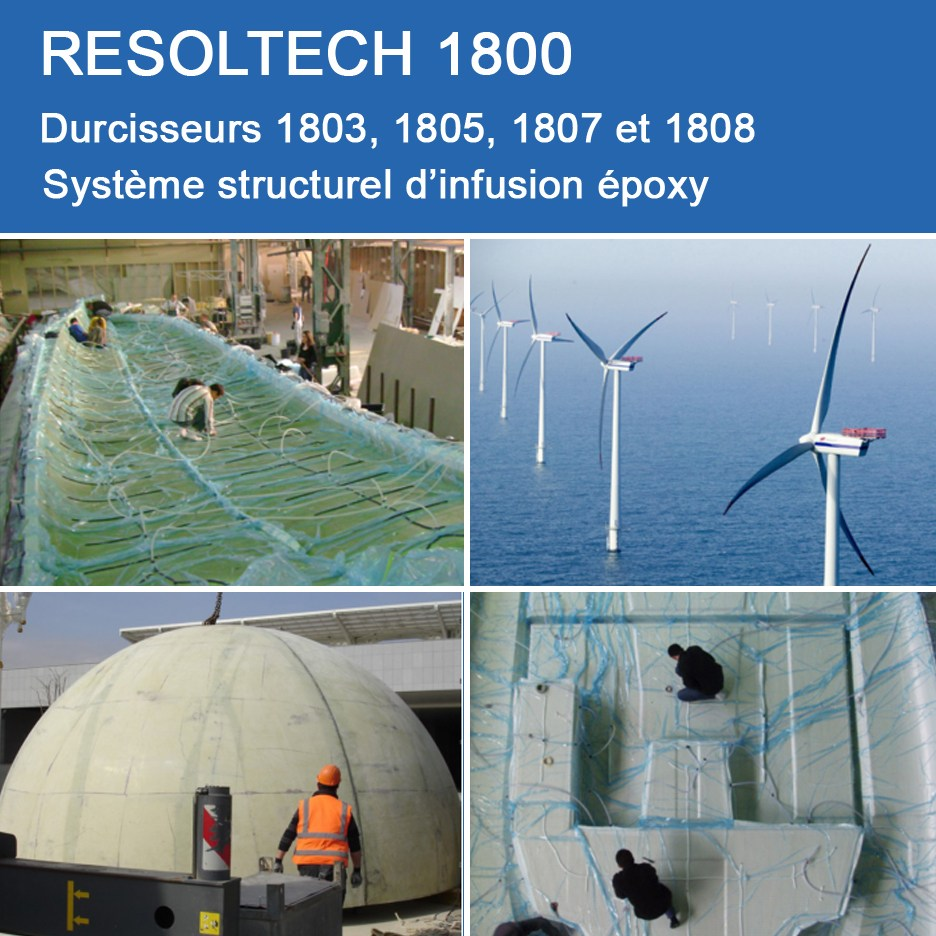Applications de 1800 pour Injection / RTM et Infusion