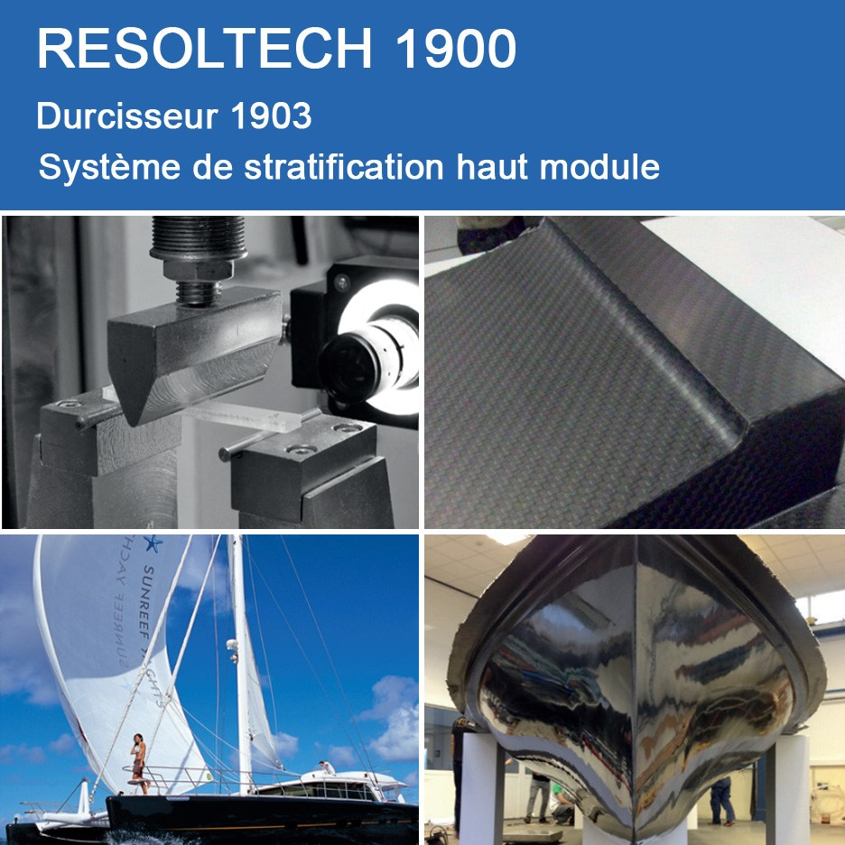 Applications de RESOLTECH 1900 pour Enroulement Filamentaire, Injection / RTM et Voie Humide