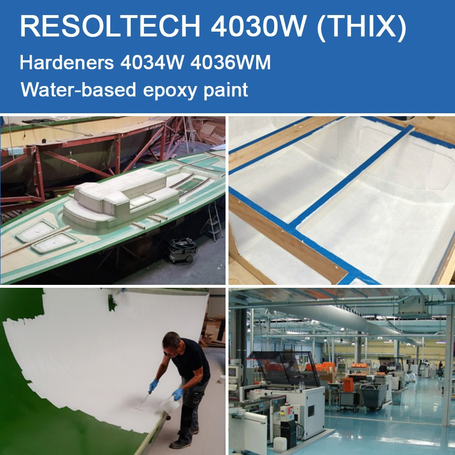Applications of 4030W (THIX) for Primers, Paints and Varnish and Gelcoats